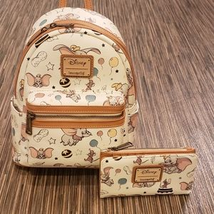 Loungefly Disney Dumbo Mini Backpack & Wallet Set